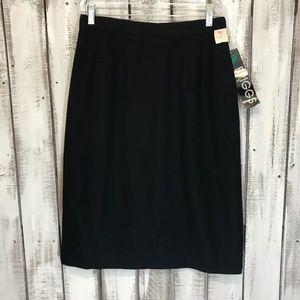 Vintage wool skirt Briggs New York 12 pencil black